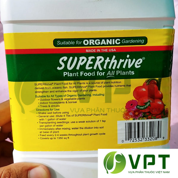 phân cá Super Thrive Plant Food